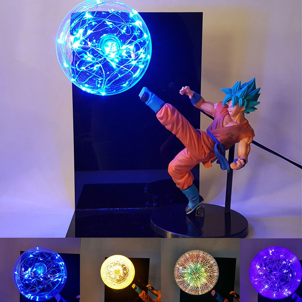 Lampara Deus Goku De Dragon Ball Z Super Saiyan Goku DIY Exibição Luz Da Noite Levou Candeeiro de Mesa para o Quarto de Brinquedos para crianças Meninos Homem MY3|Luzes noturnas| |  -