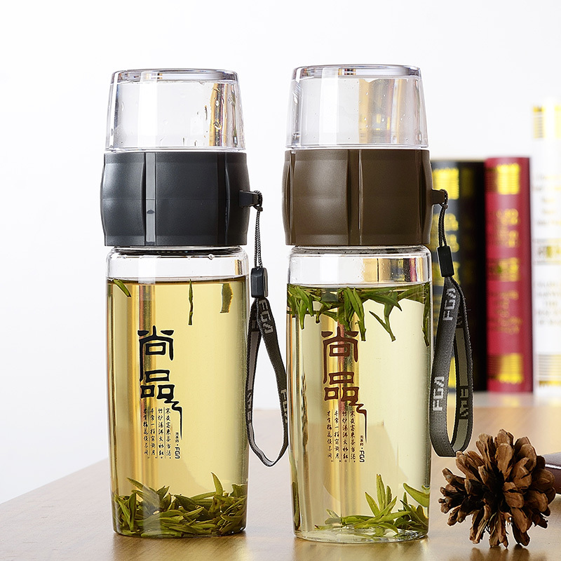 Free shipping Bootle Water Bottle High Quality Tea Cups Clear Bottle Korea Style Plastic ...