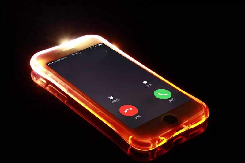 Cubierta Capa para samsung galaxy S6 S7 borde S8 S9 plus Nota 5 8 9 J3 J5 J7 A3 A5 A7 2016 2017 Coque TPU Flash LED casos de teléfono
