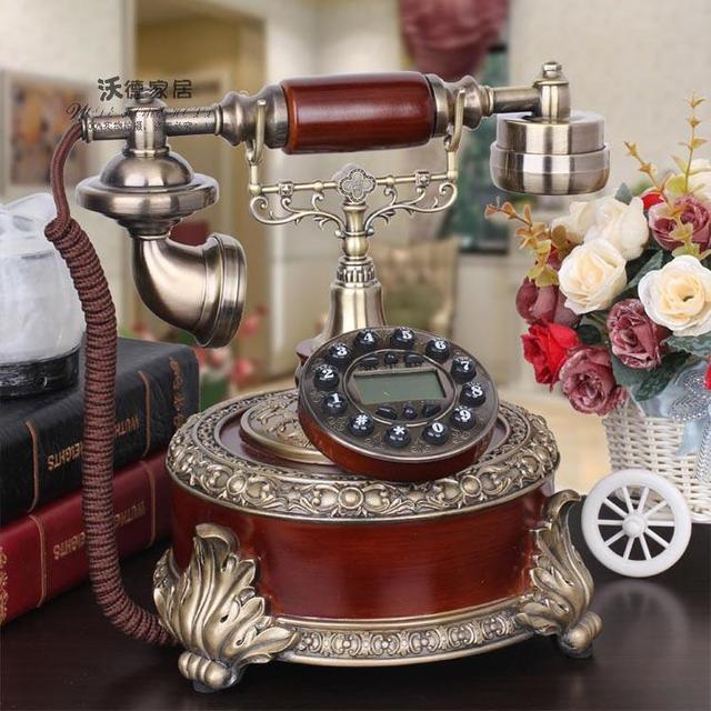European Antique Antique Retro Fashion Garden Wedding Gifts Telephone  Rustic Phone Backlit Household Decoration Home