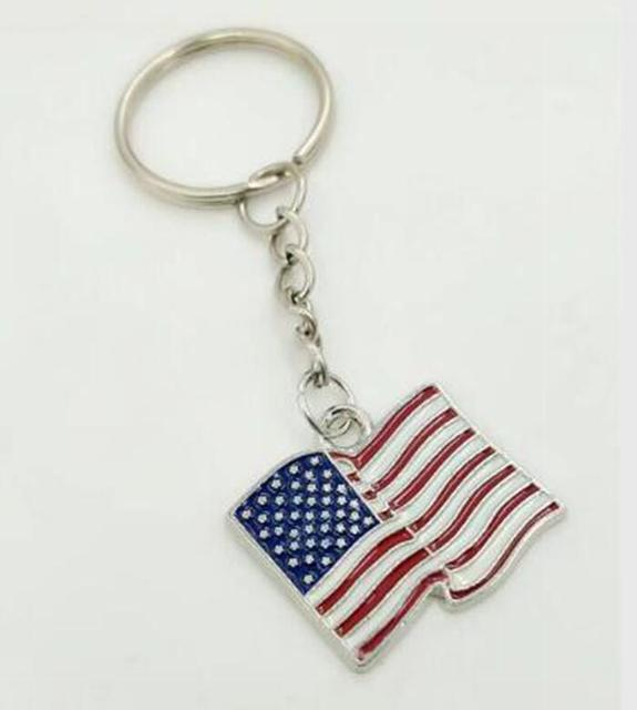 enamel american flag keychain for keys car key ring handbag souvenir