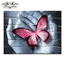 5d diy diamond painting cross stitch diamond embroidery full square diamond mosaic paintings pretty butterfly home decor gift dazzle butterfly prints diamond paintings