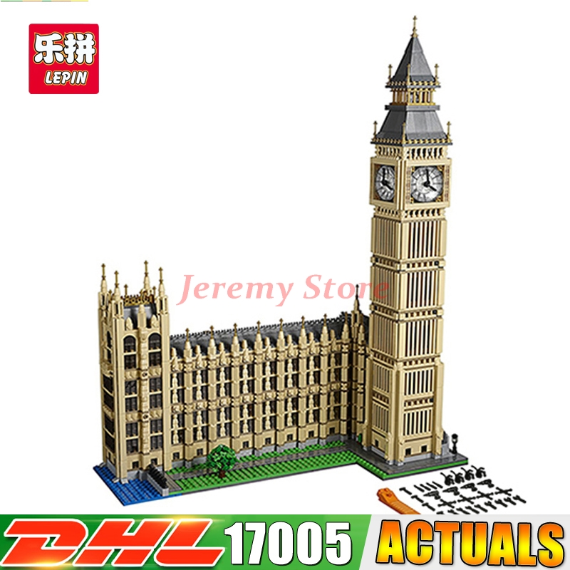 2018 IN STOCK LEPIN 17005 4163Pcs City Big Ben Model Building Kit Set Blocks Bricks Compatible Children Toy Gift 10253 a toy a dream lepin 15008 2462pcs city street creator green grocer model building kits blocks bricks compatible 10185