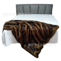 European imported imitation red fox blanket faux fur throw 200x150cm