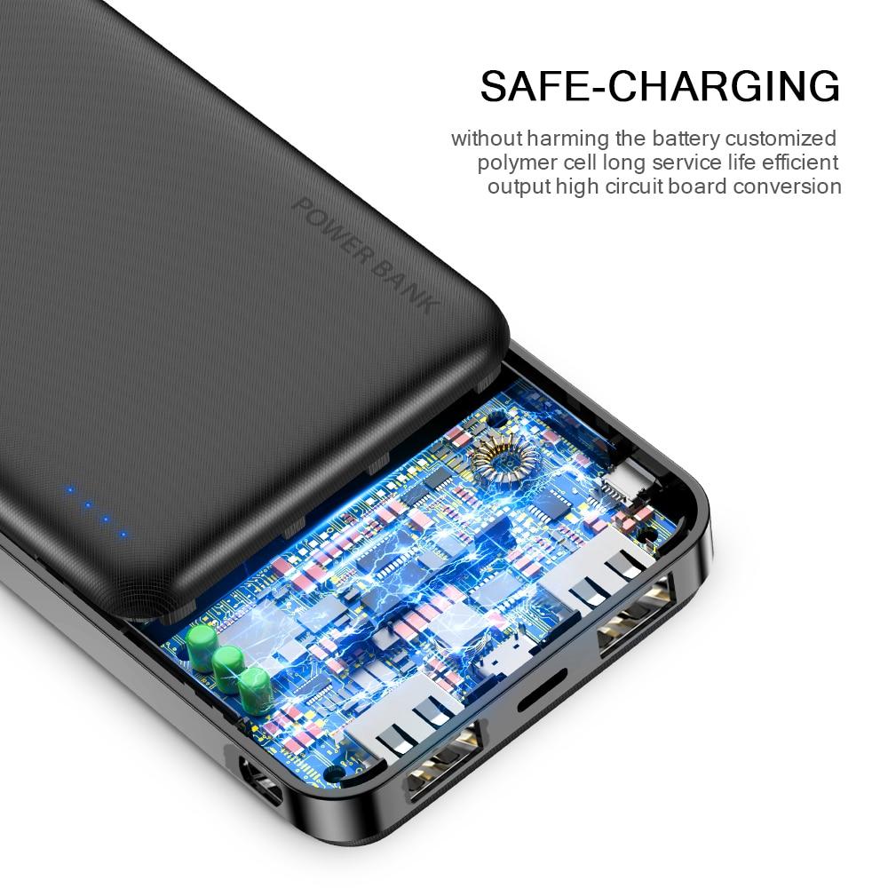 FLOVEME Power Bank 20000mAh Portable Charging Poverbank Mobile Phone External Battery Charger Powerbank 20000 mAh for Xiaomi Mi 4
