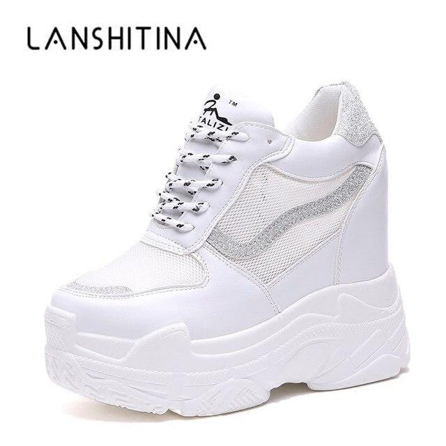 342722109ae 2018 verano zapatillas mujer zapatillas Air mesh Casual plataforma Mujer  Zapatos cuñas transpirable aumento de la