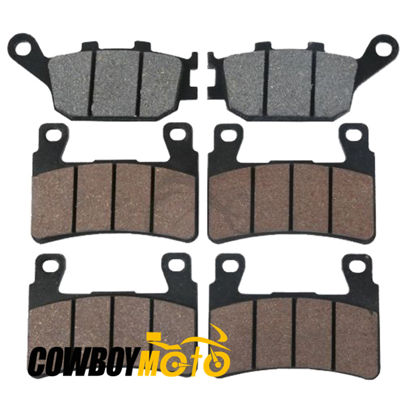 ФОТО 6 PCS Motorcycle Semi-metal Sintered Front & Rear Disc Brake Pads for HONDA CBR600RR CBR 600 RR 2003 2004