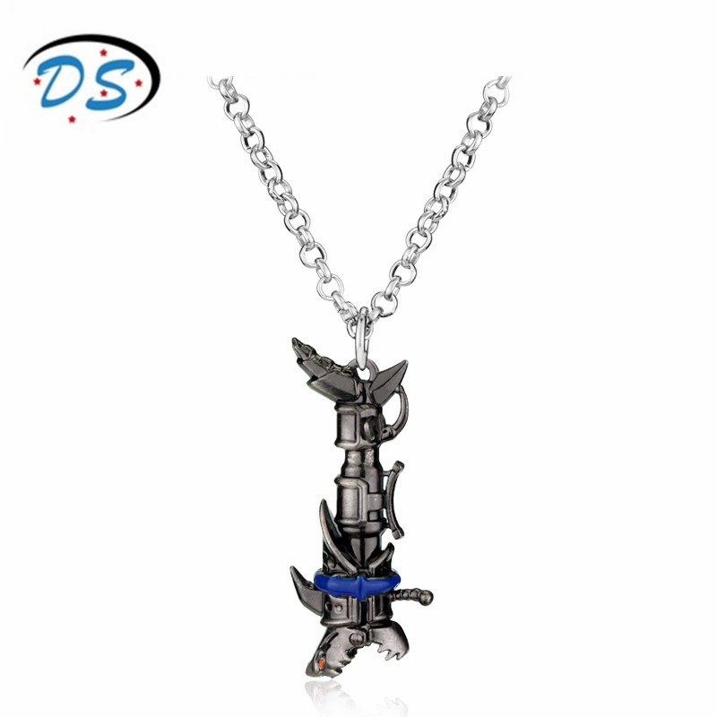 Hot Online Game Jewelry League of legend Heroes Jinx Darts Weapon Necklace Mans Hip Hop Pendants Personalised Necklaces