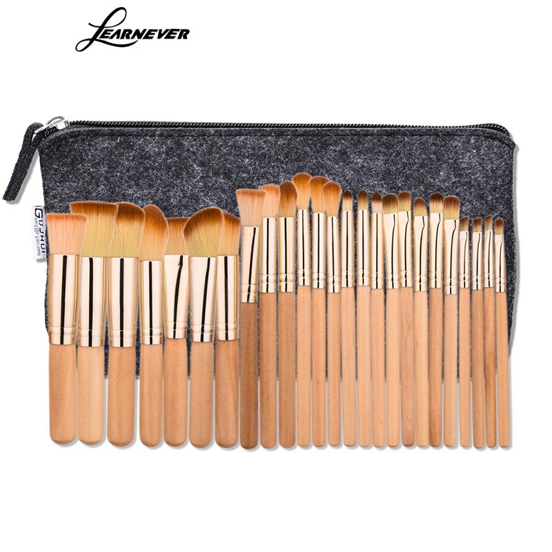 LEARNEVER 25pcs Professional Makeup Brushes Set Powder Foundation Eyeshadow Eyeliner Lip Brush Tool Make Up Brush Set Beauty 2017 new20pcs foundation eyeshadow eyeliner lip brush tool makeup brushes set powder new