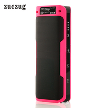 Zuczug Portable Outdoor Waterproof Bluetooth Speaker Power Bank With Mincrophone 16GB TF Card Support