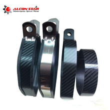 Alconstar- Motorcycle Motocross Muffler Exhaust Pipe Fixed Ring Hexagonal Exhaust Pipe Rings Carbon Fiber Retaining CBR GSXR FZ1