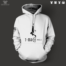 TMAC McGrady logo design men unisex pullover hoodie heavy hooded sweatshirt 100% organic cotton fleece inside Free Shipping
