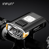 INFUN GT200 Bike Front Headlight Cycling Bicycle Rechargeable Flashlight 2200 Lumen