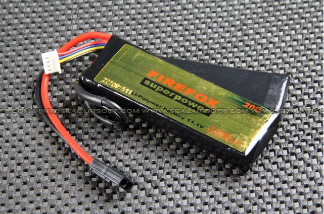 HK register free shipping~100% Orginal FireFox 11.1V 2300mAh 20C Li Po AEG Airsoft Battery