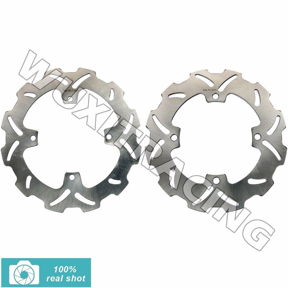 Полный комплект передние задние тормозные диски ротора для Suzuki RMZ250 RMZ450 РМЗ 250 450 2005-2015 06 07 08 09 11 13 rmx на 450 RMX450 2010-2012