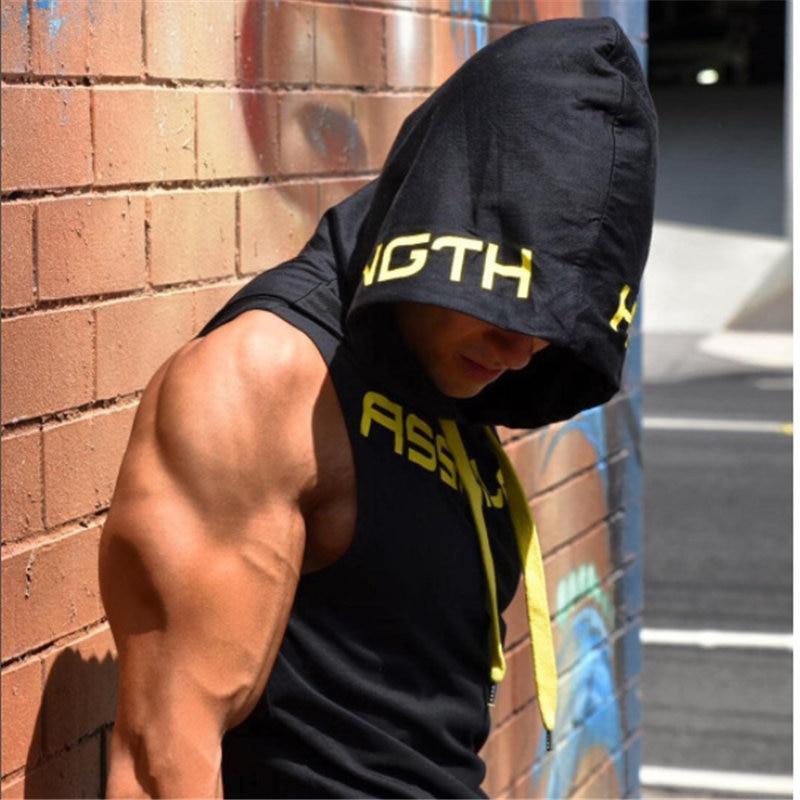 Fitness bodybuilding Tank Top Hoodie 1