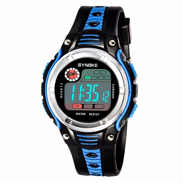 Cool Children Watches LED Digital Clock Waterproof Wristwatches Outdoor Sports W