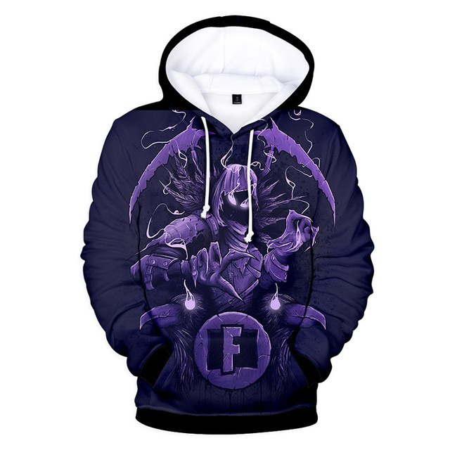 Men/Women Clothes Fortnight Night 3D Color Printing Shadow Assassin Hooded Sweatshirts Hip Hop Tops Fashion Wear Hot Selling 1