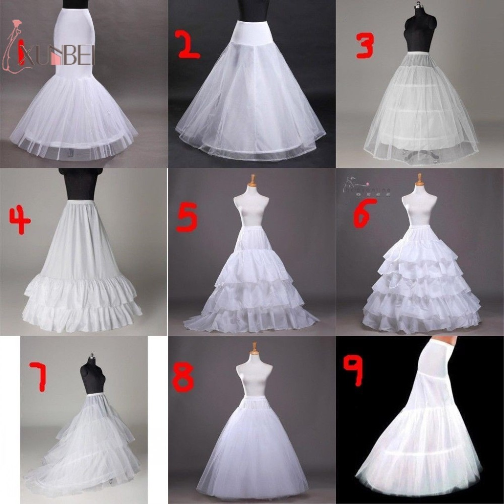 Woman 6 Hoop Wedding Bridal Petticoat Crinoline Ball Gown Skirt Underskirt Wedding Accessories Jupon Mariage 2019