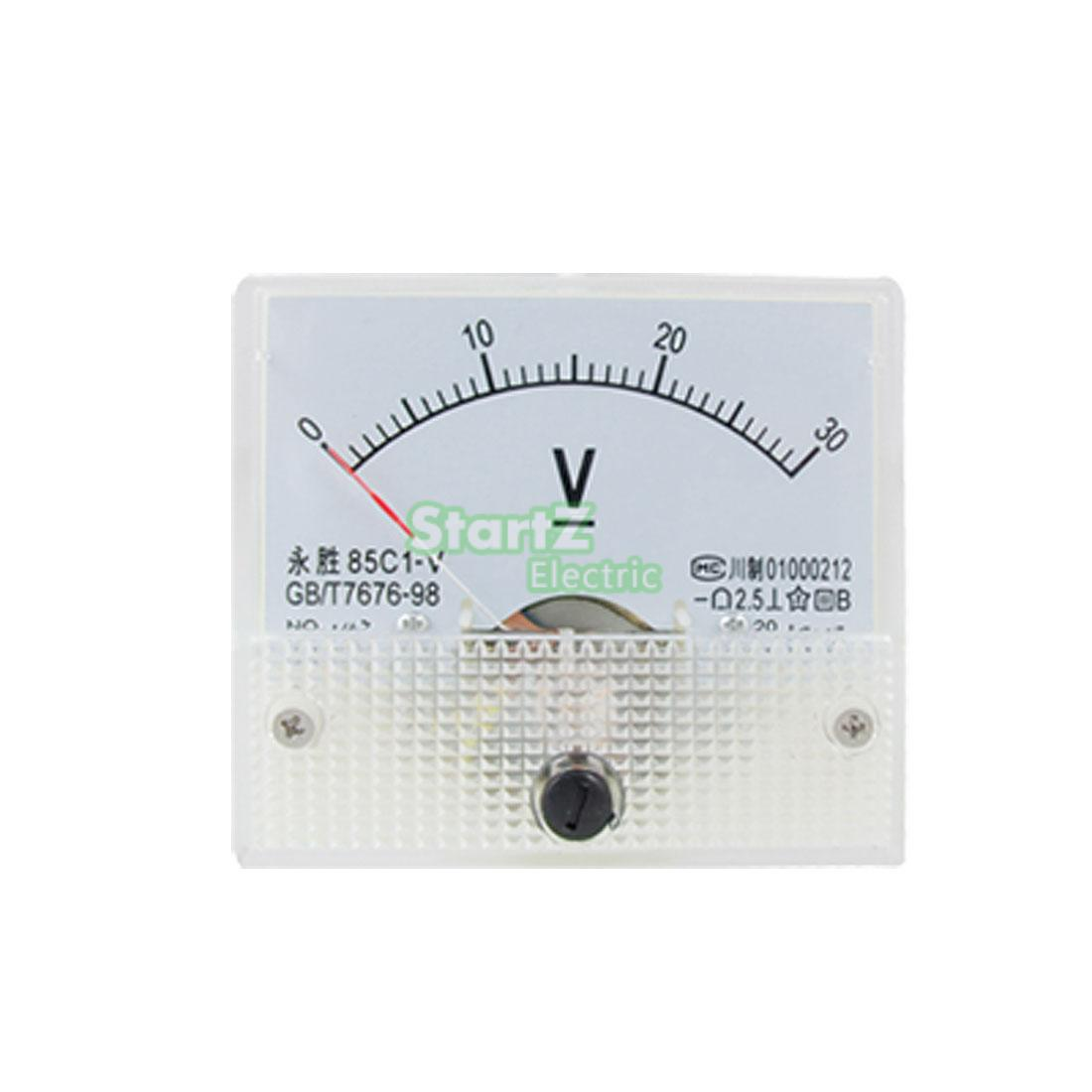 <font><b>DC</b></font> Analog Meter Panel <font><b>30V</b></font> Current Voltage Ammeters 85C1 <font><b>0</b></font>-<font><b>30V</b></font> Gauge image