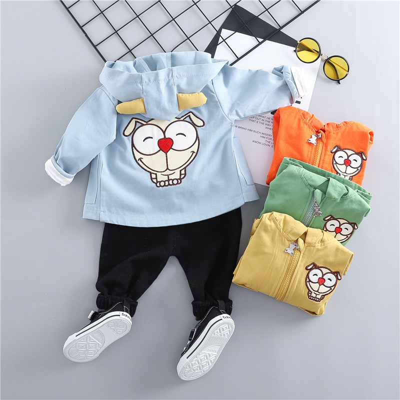 7d09ffcd67576 ZWXLHH 2019 Spring Baby Boys Girls Clothes Set Toddler Kids Clothing Suits  Cartoon Coats T Shirt