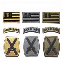 цена на MAMAO US Army 10th Mountain Division 3D Embroidered USA Flag & Tab & Digital ACU Patch BDU Shoulder Patch Badge