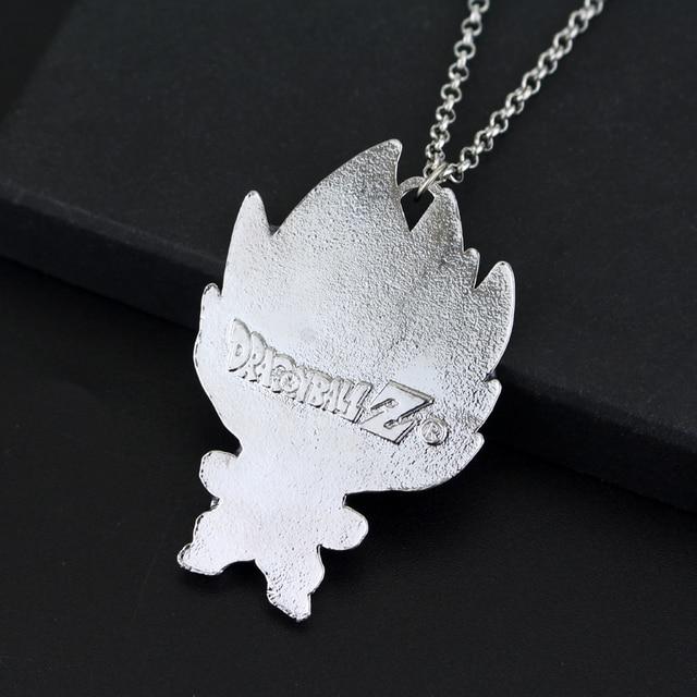Anime Dragon Ball Z Son Goku Figure Charm Necklace Super Saiyan Metal Pendant Necklace Collectible Cool Novelty Jewelry