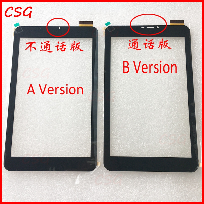 Black New 8 inch touch panel For cube U27GT 3G C8 TALK 8X Tablet Touch Screen Touch Panel glass sensor Digitizer Replacement witblue new touch screen for 9 7 archos 97 carbon tablet touch panel digitizer glass sensor replacement free shipping