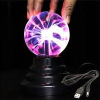 Magische USB Plasma Ball Licht Kristall Lampe Desktop Globus Laptop Disco Bühne