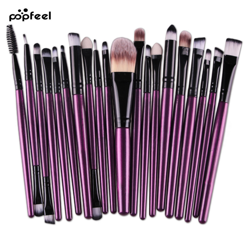 Eye Makeup Set 20 Pcs Brushes Set Eyeshadow Blending Brush Powder