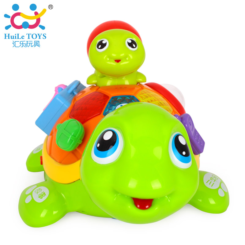 Kids Toys Parent-Child Tortoise Interactive B/O Electric Animal Puzzle Turtle Toys for 6M+ Toddler Crawling Baby Toys interactive toys
