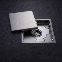 Tile insert square floor drain waste grates bathroom invisible shower drain 110 x 110mm or 150.jpg 200x200