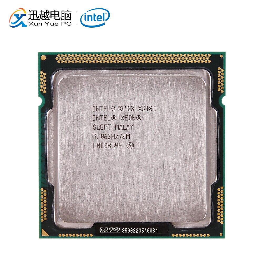 Processeur d'ordinateur de bureau Intel Xeon X3480 3480 Quad-Core 3.06 GHz 8 mo L3 Cache LGA 1156 serveur CPU utilisé