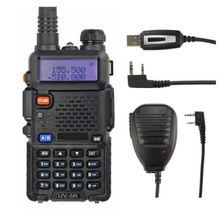 Baofeng UV-5R 136-174/400-520 мГц Портативная рация 5 Вт UHF/VHF Dual Band Портативный ветчина приемо- способ Радио с кабель для программирования/Динамик