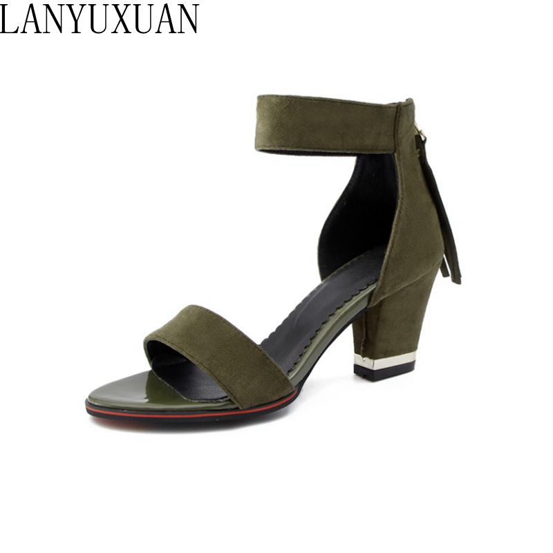 2018 Hot Sale New Sandals Women Big&Small Size 28- 52 Sandals Ladies Wedding Party Dance Shoes High Heels Woman Pumps Y-01 lanyuxuan 2017 new hot sale sandals