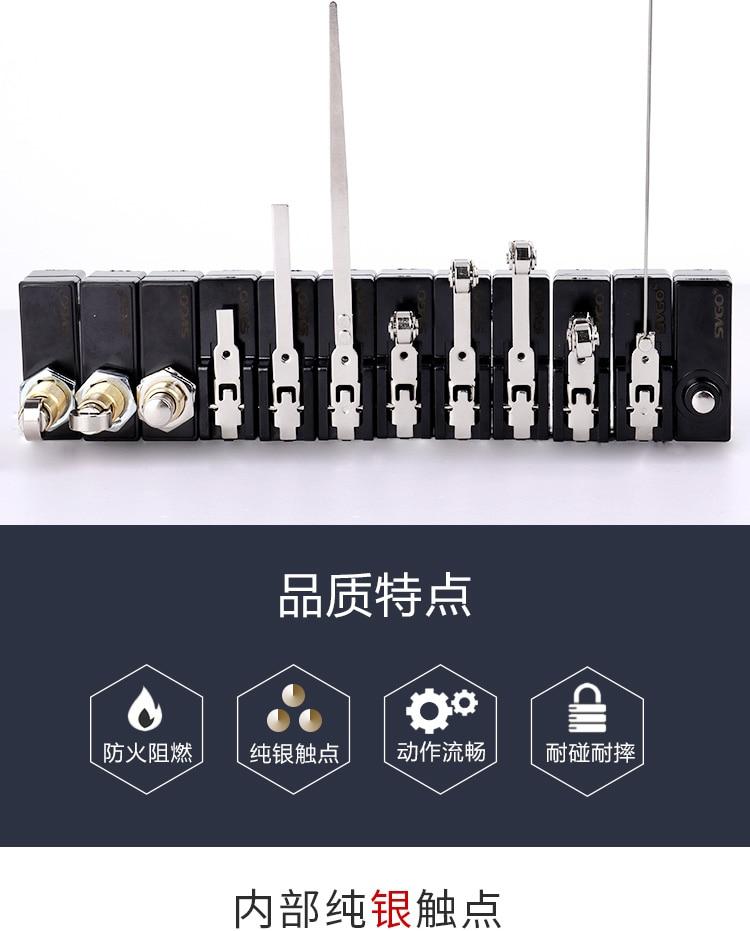 Curso interruptor de limite interruptor micro Z-15GQ-B LWX5-11M contatos de prata