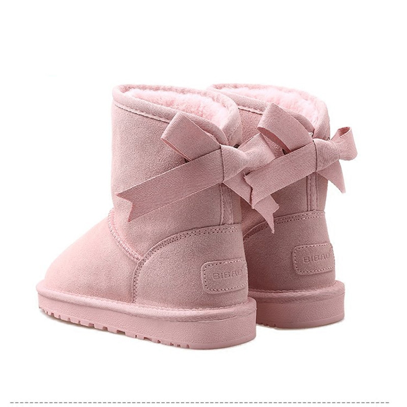 Careaymade-Korean bow winter snow boots, women 2018 new short tube students lovely loaf bread shoes, boots and cotton shoes