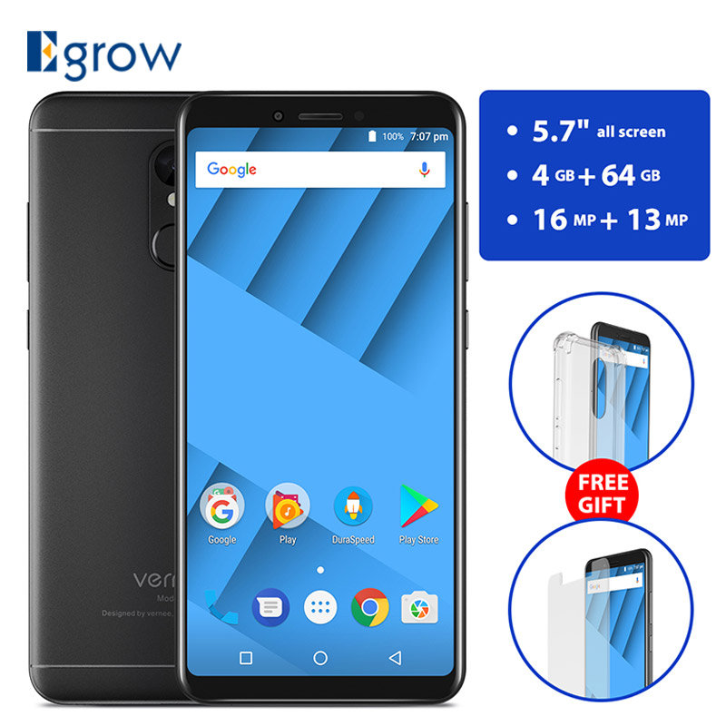Vernee M6 5,7 дюймов 18:9 Экран 4G RAM 64g ROM Мобильного телефона MT6750 Octa core Android 7,0 16MP Камера сотовый телефон 4G LTE смартфон