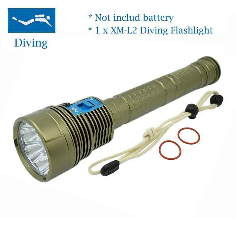 New LED 18000 Lumen 7 x XM-L2 LED Underwater Waterproof LED 70W 3-Mode dive Diving Flashlight Torch 200M Flash Light Lantern
