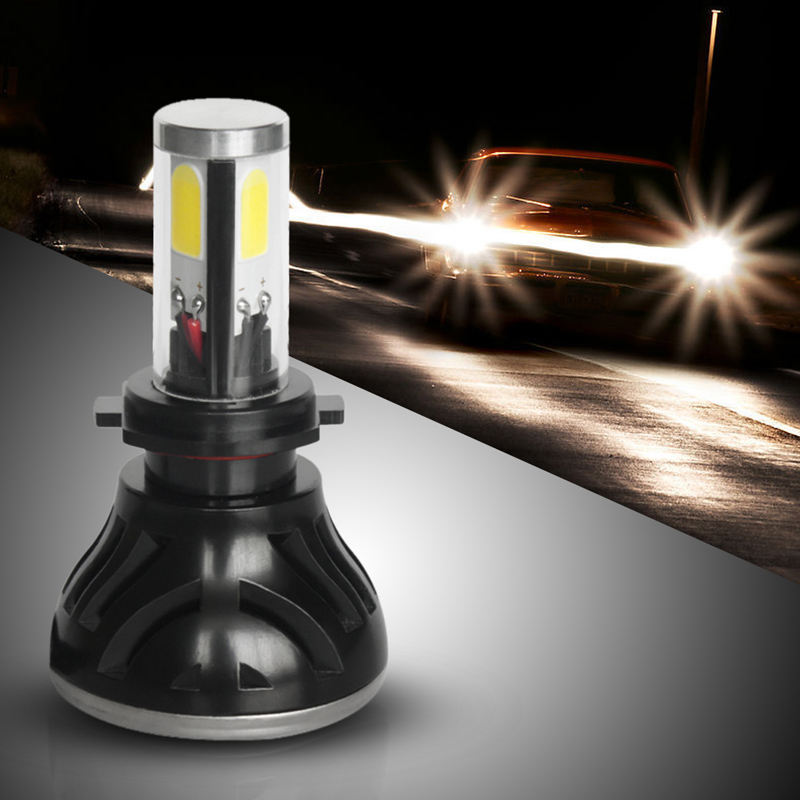 H7 LED COB Car Bright Headlight Beam Bulbs Super White DC 9V-36V 80W 8000LM 6000K Car Head Lamp 360 Degree Full Angle  1 pair dc 9 36v h4 cob 80w led car headlight kit hi lo beam bulbs 6000k