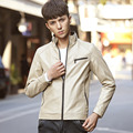 Spring and Autumn thin section retro Men's  Slim Fit Motorcycle leather jacket collar short paragraph Casual  leather jacket