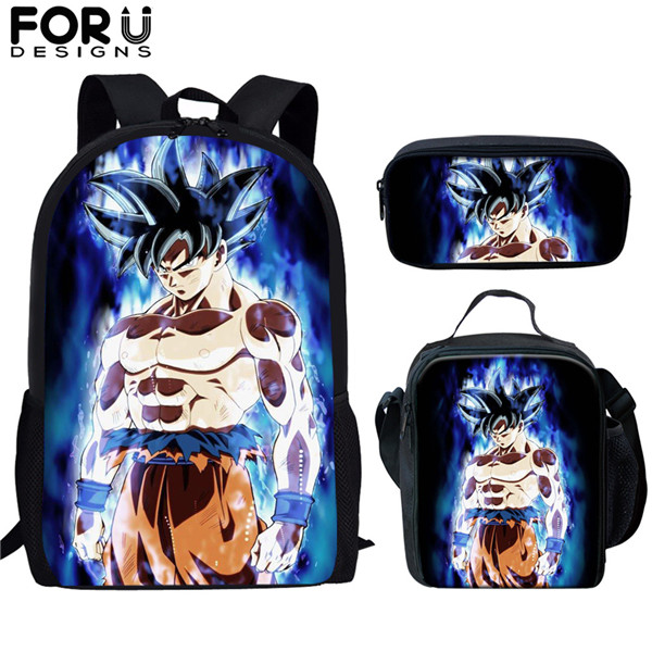 Popular Print Child Backpack Dragon Ball Z Kids School Bag Large