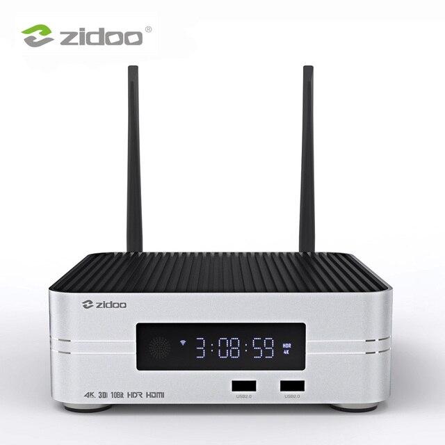 Zidoo Z10 Smart ТВ Box Android 7,1 4 К NAS Media Player 2 г DDR 16 г eMMC телевидения Декодер каналов кабельного телевидения 10Bit Android top box UHD ТВ коробка