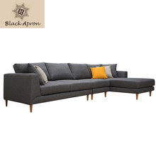 Grey Home Sofa Set Three Seaters For Living Room Furnitures Cotton Linen Fabric Muebles Modern Setional Sofas Sets S36(China)