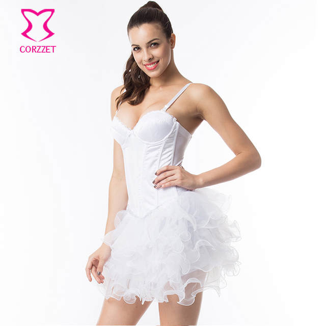 f9930d7e109 placeholder White Cotton Strap Push Up Sexy Bridal Corsets And Bustiers  Wedding Victorian Corset Dress Gothic Clothing
