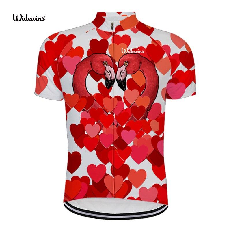 2018 Summer New Cycling Jerseys MTB Flamingo Bicycle Biking Short Jersey  Road Bike Riding Short Sleeve Top Shirt love 6544-in Cycling Jerseys from  Sports ... 4da2fae31