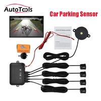 22mm Buzzer Car Parking Sensor Reverse Backup Radar Sound Alert Indicator Probe System 12V car kit with 4 sensors