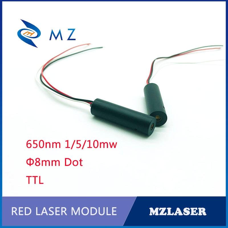 Red Pwm Control Laser 8MM 650NM 1MW/5MW/10MW Industrial Grade APC Drive  Dot Laser Module