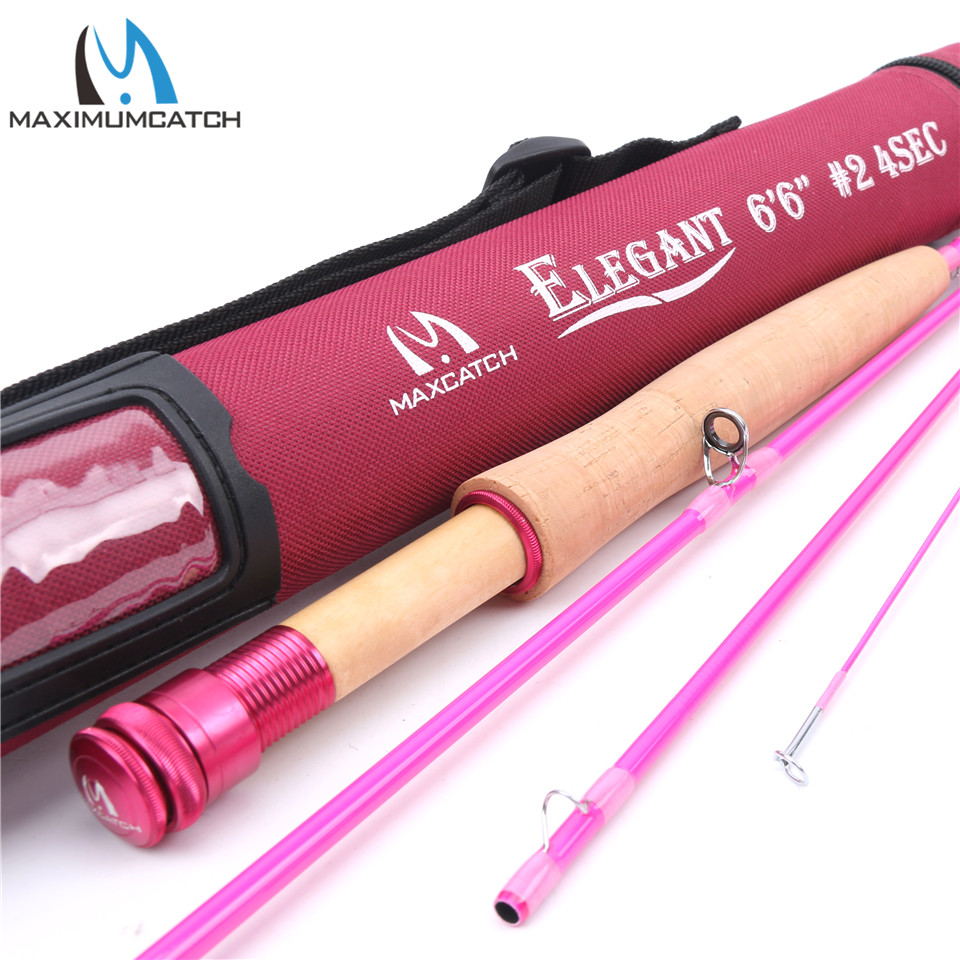 ФОТО Maximumcatch Fly Rod Fast Action 2WT 6'6'' 4Sec Pink for Ladies with Cordura Tube