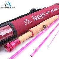 Maximumcatch Fly Staaf Snelle Actie 2WT 6'6'' 4Sec Roze voor Dames met Cordura Tube